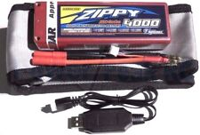 Charger + LiPo Battery bundle - Zippy 4000mAh 2s 7.4v 25c  Traxxas Deans HPI EC3