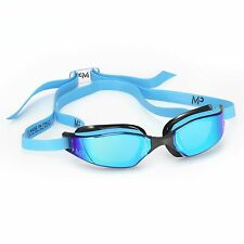 Aqua Sphere Xceed Swim Goggles -Titanium mirror lens -Blue/Black Frame, MP line