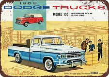 1959 Dodge Trucks Vintage Reproduction Metal Sign 8 x 12