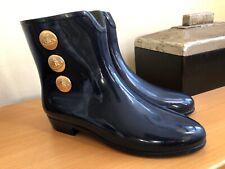 VIVIENNE WESTWOOD BY MELISSA RUBBER RAIN ANKLE BOOTS BLUE SIZE 10