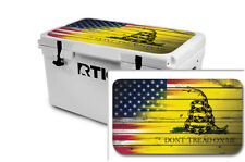 Thickest Wrap 24mil Skin Lid for RTIC 65qt Cooler - USA Don't Tread - OS Sale