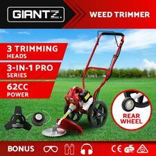 Giantz 3-in-1 Wheeled Brush Cutter String Trimmer Snipper Whipper Brushcutter