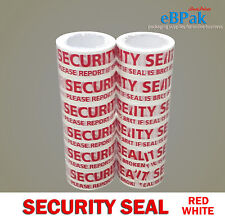 36 Roll - Security Seal - Red White Packing Packaging Sealing Tape 66m x 48mm
