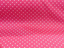 100% cotton polka dots fabric by the metre in Rose Pink