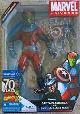 MARVEL Universe Gigantic Battles Skrull Giant Man vs Captain America rare 2 pack