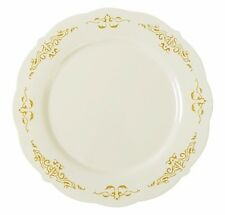 """120ct. 7.5"""" Bone Disposable Salad Plates Herritage Look Real Wedding Party Event"""