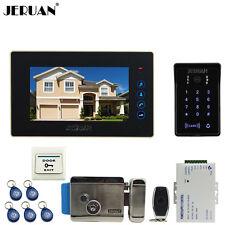 """7"""" LCD RFID Password Video Door Phone Doorbell Intercom System Camera Touch Key"""