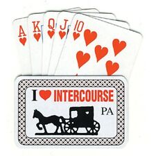 I LOVE INTERCOURSE PA PLAYING CARDS NEW IN BOX