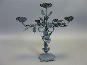 KerzenständerLeuchter Kerzenleuchter Kandelaber 3 Arme Blumenmuster 35 cm hoch