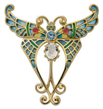 Gold Plated Butterfly Brooch With Swarovski Crystals Ari D Norman