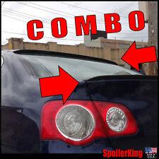 COMBO Spoilers (Fits: VW Passat B6 2005-10) Rear Roof Wing & Trunk Lip 284R/244L