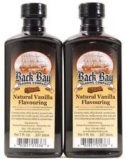 2 Back Bay Trading Company Natural Vanilla Flavouring 7oz Bottles