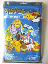 Pokemon Fun Pack By CreativeKids Poster,Stencil,Stickers,Coloring Bk,Crayons New