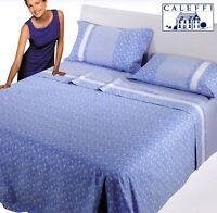 Completo letto, Lenzuola Puro Cotone. CALEFFI, BRISTOL Singolo, 1 piazza e mezza