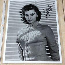 Sophia Loren Signed PHOTO Autograph GA COA  Hologram