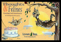 Leanin Tree Greeting Assortment 20 Cards Box Set THOUGHTS FELINE