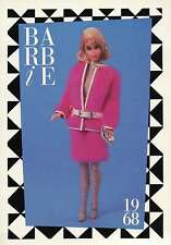 "Barbie Collectible Fashion Trading Card  "" Snug Fuzz ""  White Belt Leggings 1968"