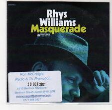 (DL420) Rhys Williams, Masquerade - 2012 DJ CD