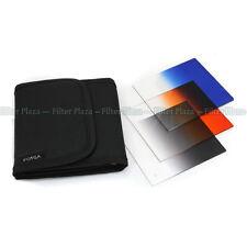 3pcs Gradual Graduated Blue Grey Orange Color filter Case Kit for Cokin P Series