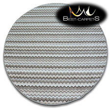 CHEAP RUGS ROUND ZIGZAG BEIGE HIGH QUALITY soft and nice in touch 5 SIZE