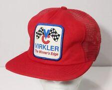 Vintage Virkler Winner s Edge Patch Snapback Mesh Trucker Hat Cap Made in  USA 1097d53747c1