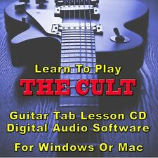 CULT (THE) Guitar Tab Lesson CD Software -  23 Songs