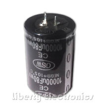 New 10000 uF by 80V Electrolytic Capacitor 50x35mm