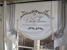 LillaBelle MAJE Schwarz Raff Gardine Rollo weiß 160x90 Shabby Landhaus Curtain