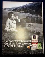 Life Magazine Ad OLD GOLD Cigarettes 1971 Ad