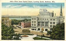 Wisconsin, WI, Madison, View fr Capitol Dome Looking South 1916 Postcard