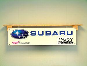 Subaru WRX Impreza Workshop Garage Car Display Banner