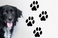 Dog Paw Print Stickers Set of 4 Home Wall Floor Car Vinyl Decal Cat Removable