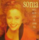 "SONIA-YOU´LL NEVER STOP ME LOVING YOU MAXI SINGL VINYL 12"" 1989 SPAIN"