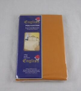 Double Bed Size Fitted Sheet Copper Orange Easycare Polycotton
