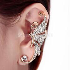 Schmetterlingform Ohrklipp Ohrklemme Ohrring Ear Cuff Ohrschmuck Linken Ohr