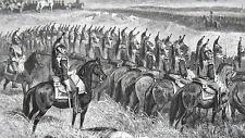 GRAVURE ANCIENNE 19e - BATAILLE DE WAGRAM - 5 JUILLET 1809