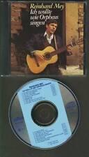 REINHARD MEY Ich Wollte Wie Orpheus Singen 1968-1987 CD INTERCORD HOLLAND
