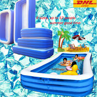Inflatable Swimming Pool Outdoor Summer Garden Backyard Inflated Water Tubs kids