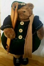 Posable Holiday Bear with Sled 20 inch Christmas Posing Standing
