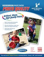 8.5 X 11 Premium Glossy Photo Paper 220GSM 11MIL 98 Brightness 100 Sheets pack
