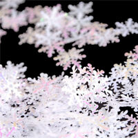 300Pcs/Pack DIY Snowflake Ornaments Christmas Holiday Party Home Decor Gift _F