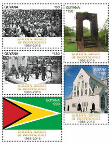 Guyana - 2016 - Golden Jubilee Of Independence - Set Of 5 Stamps - MNH