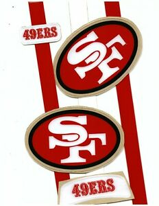 TB 49ers Football Helmet Decals Free Shipping 68-88