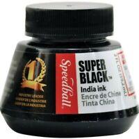 Speedball Super Black India Ink 59ml.