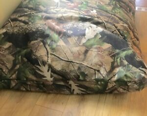 camouflage Dog Bed Cushion with Heavy Duty Tough Removable Military Grade Cover