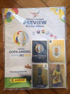 BRAND NEW Panini Copa America 2021 Preview Empty Album + Complete Sticker Set