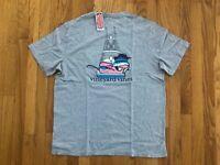 NWT Men's Vineyard Vines Sportfishing Gray Whale Pocket T-Shirt Size M Or L