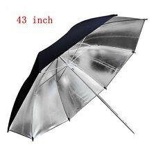 43 Inch 109cm Pro Studio Reflector Black Silver Soft Diffuser Umbrella for Photo
