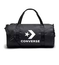 3dc43b9f8877 Converse All Star Duffle Shoulder Bag Black   White Logos New 2019