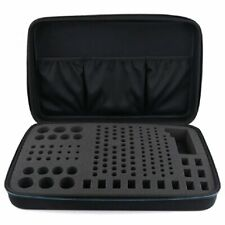 Black Eva Battery Organizer Box HandBag Storage Case For AA Batteries Tester